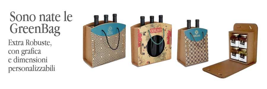 scatole in cartone extra-rigido serie green per vino marmellate creme vasetti e prodotti food