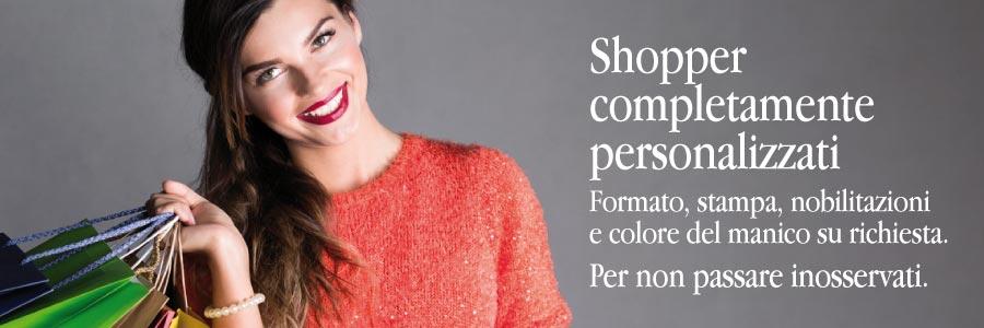 shoppers lusso personalizzabili con stampa a colori