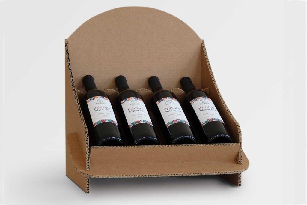 espositore da banco 4 bottiglie